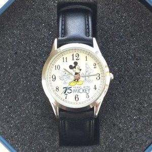 Disney AVON 75 YEARS WITH MICKEY WATCH BLACK BAND